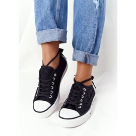 FB2 Schwarze Spitzen Candice Sneakers für Damen 2