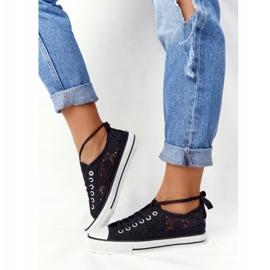FB2 Schwarze Spitzen Candice Sneakers für Damen 6