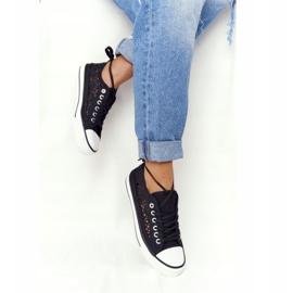 FB2 Schwarze Spitzen Candice Sneakers für Damen 3