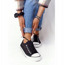 FB2 Schwarze Spitzen Candice Sneakers für Damen 4