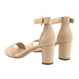 Sandalen auf Ferse Beige Evento 20SD98-1617 3