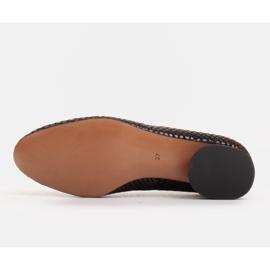 Marco Shoes Ballerinas aus Schlangenleder mit rundem Absatz schwarz 6