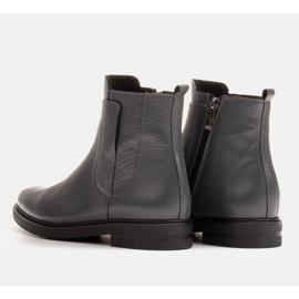 Marco Shoes Leichte Stiefel mit flachem Boden aus Naturleder isoliert grau 4