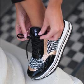 Marco Shoes Leichte Sneaker auf dicker Sohle aus Naturleder schwarz 1