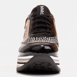 Marco Shoes Leichte Sneaker auf dicker Sohle aus Naturleder schwarz 4