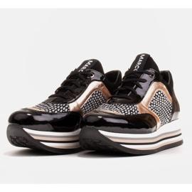 Marco Shoes Leichte Sneaker auf dicker Sohle aus Naturleder schwarz 5