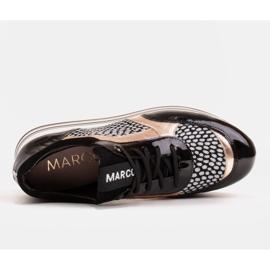 Marco Shoes Leichte Sneaker auf dicker Sohle aus Naturleder schwarz 7