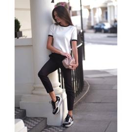 Marco Shoes Leichte Sneaker auf dicker Sohle aus Naturleder schwarz 9