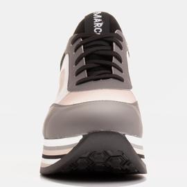 Marco Shoes Leichte Sneaker auf dicker Sohle aus Naturleder grau 2