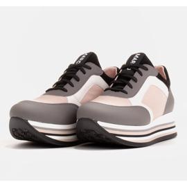 Marco Shoes Leichte Sneaker auf dicker Sohle aus Naturleder grau 4