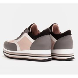 Marco Shoes Leichte Sneaker auf dicker Sohle aus Naturleder grau 5