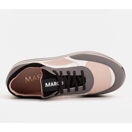 Marco Shoes Leichte Sneaker auf dicker Sohle aus Naturleder grau 6
