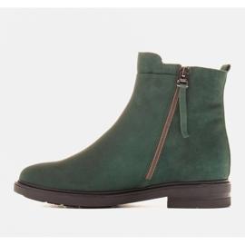 Marco Shoes Leichte Stiefel mit flachem Boden aus Naturleder isoliert grün 2