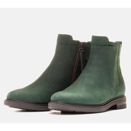 Marco Shoes Leichte Stiefel mit flachem Boden aus Naturleder isoliert grün 3