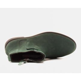 Marco Shoes Leichte Stiefel mit flachem Boden aus Naturleder isoliert grün 5