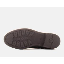 Marco Shoes Leichte Stiefel mit flachem Boden aus Naturleder isoliert grün 6