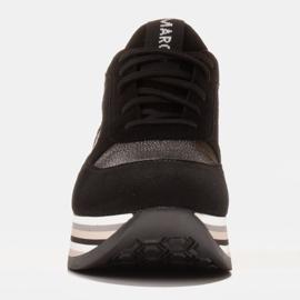 Marco Shoes Leichte Sneaker auf dicker Sohle aus Naturleder schwarz 2