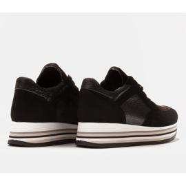 Marco Shoes Leichte Sneaker auf dicker Sohle aus Naturleder schwarz 6