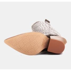 Marco Shoes Hohe Stiefel für Damen Cowboystiefel, Krokomuster schwarz 6