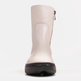 Marco Shoes Sportliche weiße Stiefelette aus weichem Naturleder 3