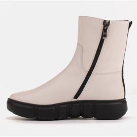 Marco Shoes Sportliche weiße Stiefelette aus weichem Naturleder 4