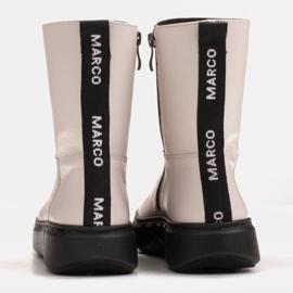 Marco Shoes Sportliche weiße Stiefelette aus weichem Naturleder 5