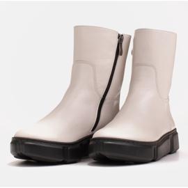 Marco Shoes Sportliche weiße Stiefelette aus weichem Naturleder 6