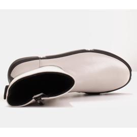 Marco Shoes Sportliche weiße Stiefelette aus weichem Naturleder 7