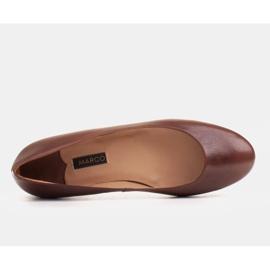 Marco Shoes Ballerinas aus braunem Narbenleder, handpoliert 4