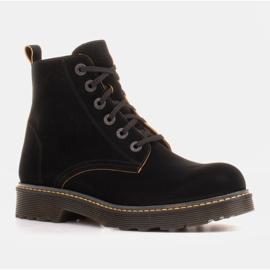 Marco Shoes Hohe Stiefeletten, Stiefel auf einer durchscheinenden Sohle gebunden schwarz 1