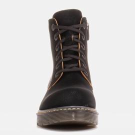 Marco Shoes Hohe Stiefeletten, Stiefel auf einer durchscheinenden Sohle gebunden schwarz 3