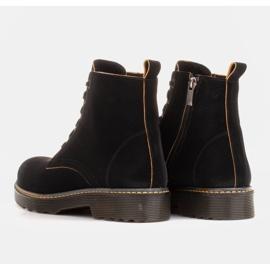 Marco Shoes Hohe Stiefeletten, Stiefel auf einer durchscheinenden Sohle gebunden schwarz 5