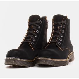 Marco Shoes Hohe Stiefeletten, Stiefel auf einer durchscheinenden Sohle gebunden schwarz 6