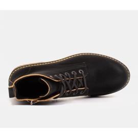 Marco Shoes Hohe Stiefeletten, Stiefel auf einer durchscheinenden Sohle gebunden schwarz 4