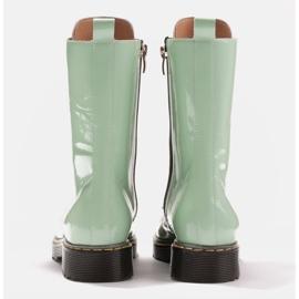 Marco Shoes Hohe Stiefeletten, Stiefel auf einer durchscheinenden Sohle gebunden grün 5