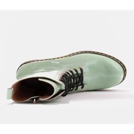 Marco Shoes Hohe Stiefeletten, Stiefel auf einer durchscheinenden Sohle gebunden grün 7