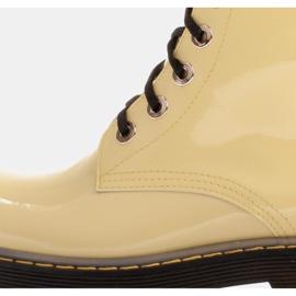 Marco Shoes Hohe Stiefeletten, Stiefel auf einer durchscheinenden Sohle gebunden gelb 6