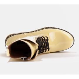 Marco Shoes Hohe Stiefeletten, Stiefel auf einer durchscheinenden Sohle gebunden gelb 7
