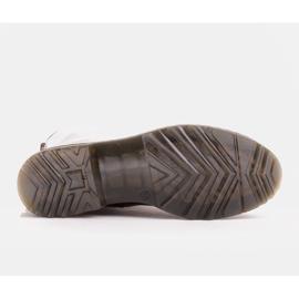 Marco Shoes Hohe Stiefeletten, Stiefel auf einer durchscheinenden Sohle gebunden rot 7