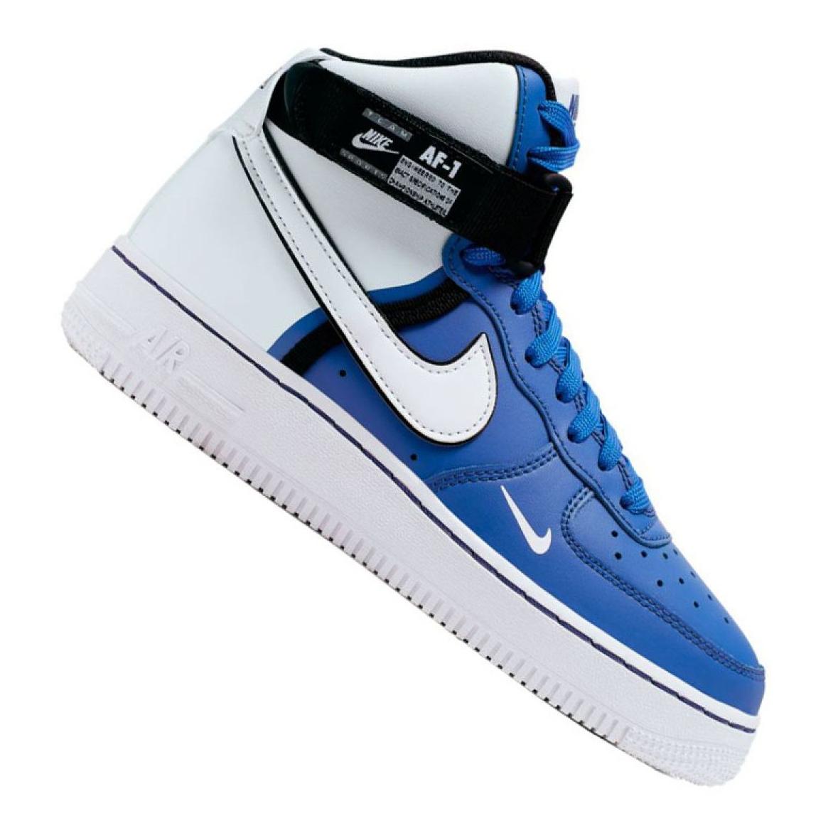 Nike Air Force 1 High LV8 2 Jr CI2164 400 Schuhe weiß blau