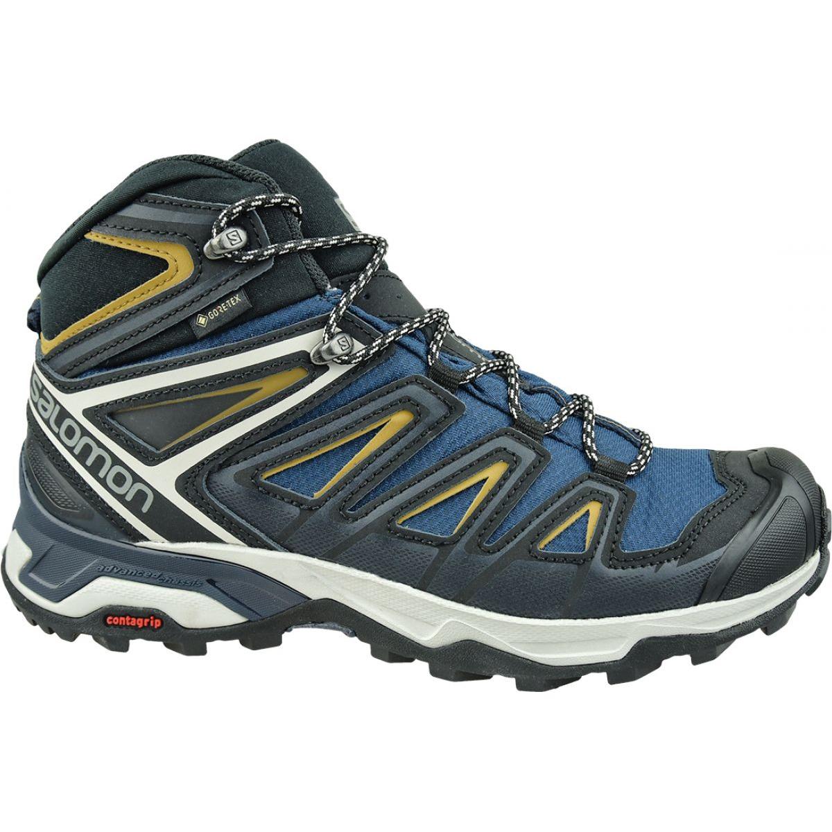Details zu Salomon X Ultra 3 Mid Gtx M 408141 Schuhe marine